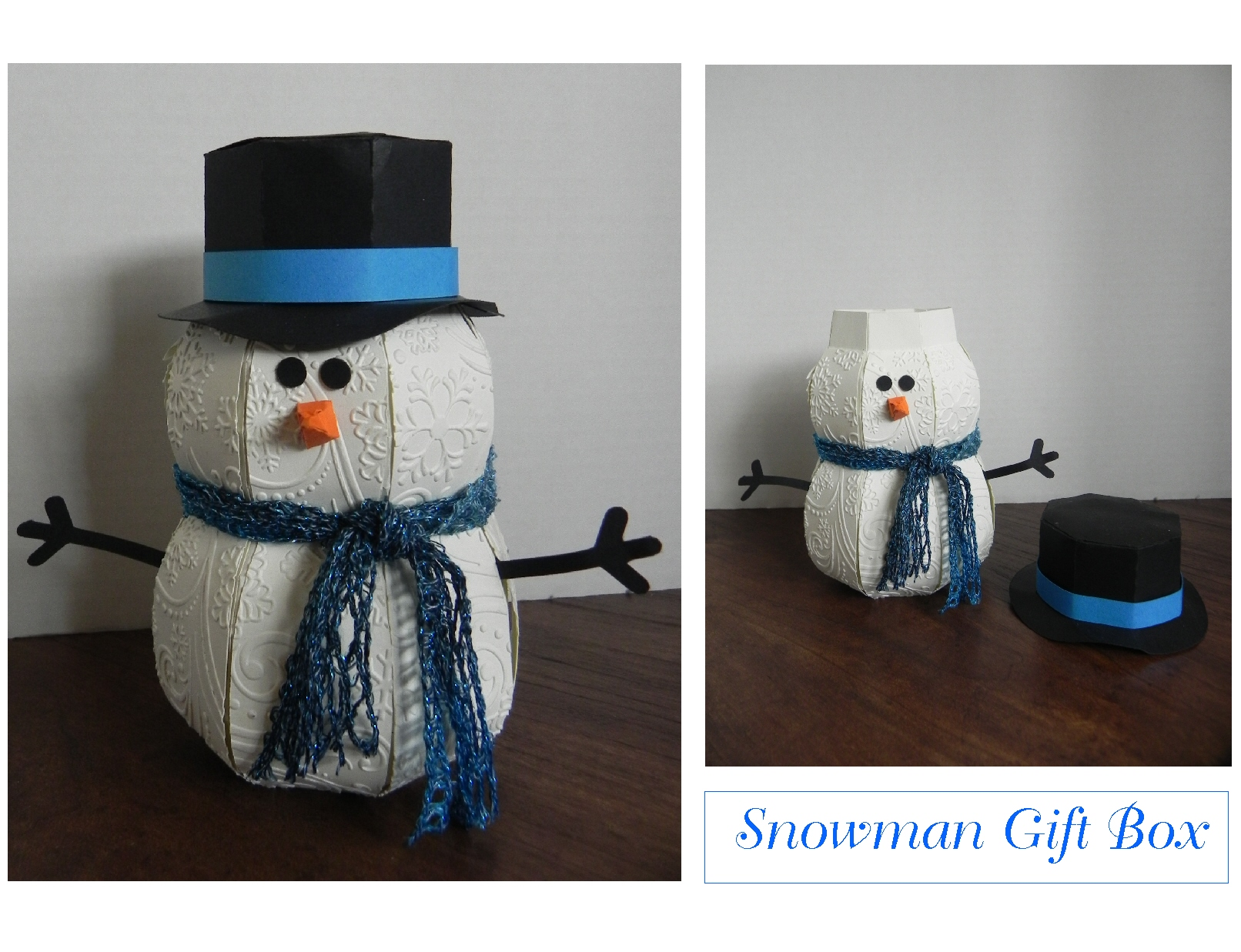 Snowman Gift Box I Played With Paper Today