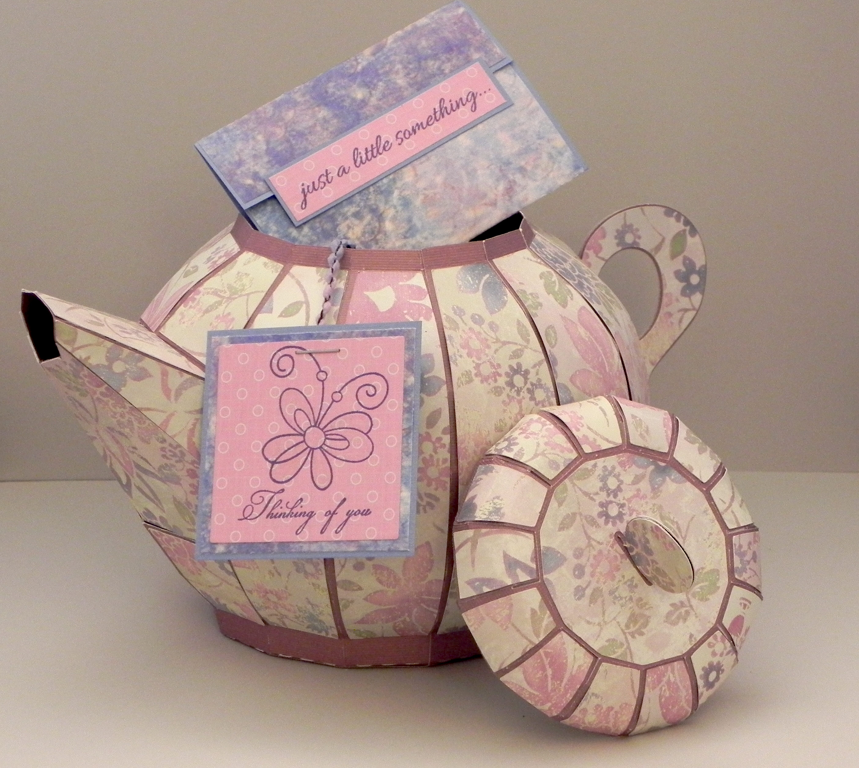 "Tea Pot Gift Box with ""Tea Bag"" Gift Card Holder 