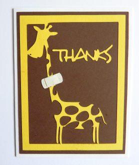 Thyroid Cancer Thank You Card