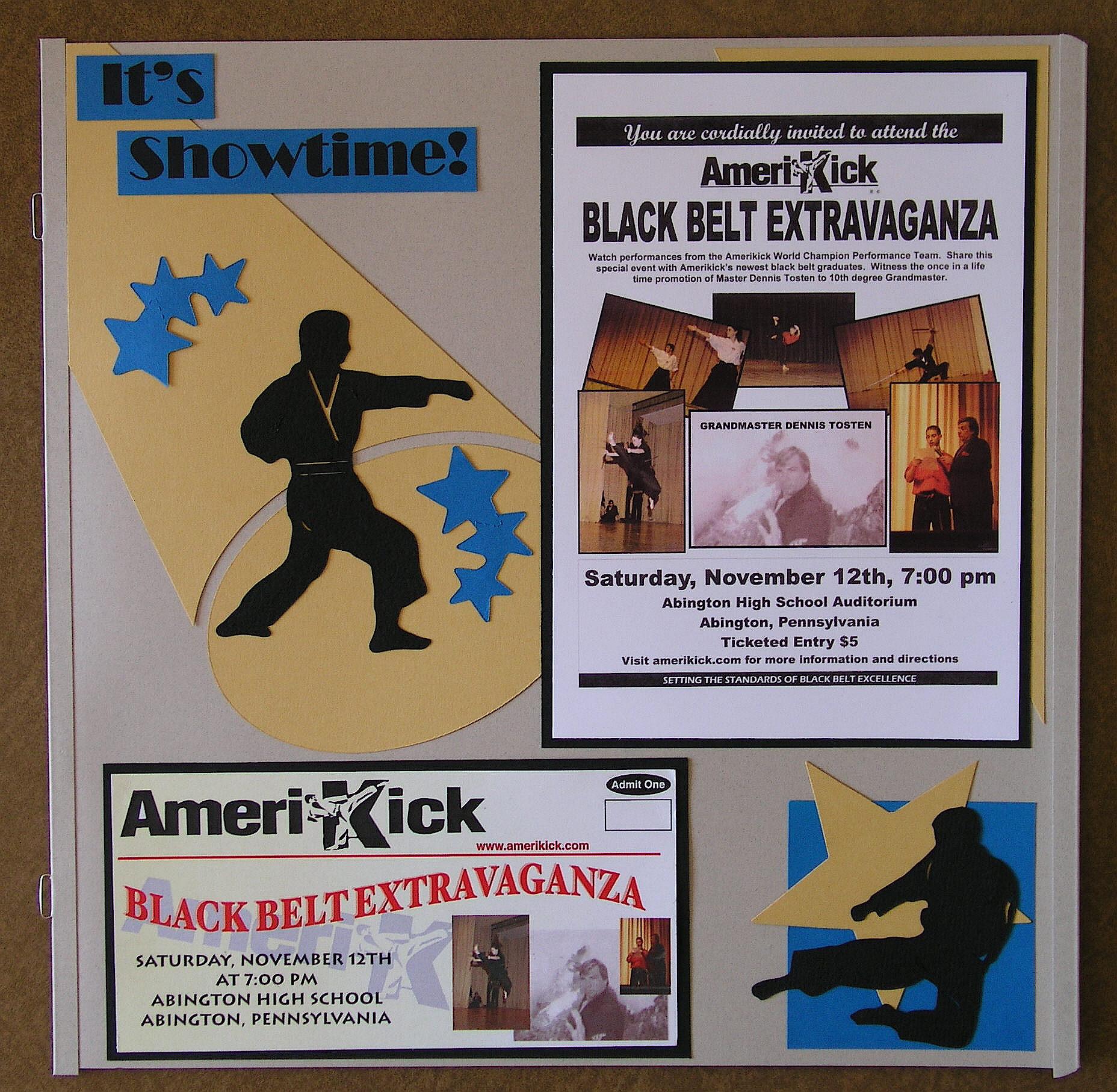 Scrapbook ideas high school -  Ticket To The Black Belt Extravaganza