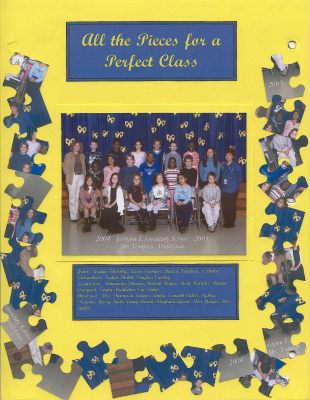 a140 Class Picture with puzzle pieces