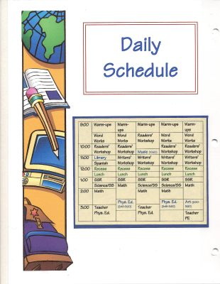 a150 Daily Schedule