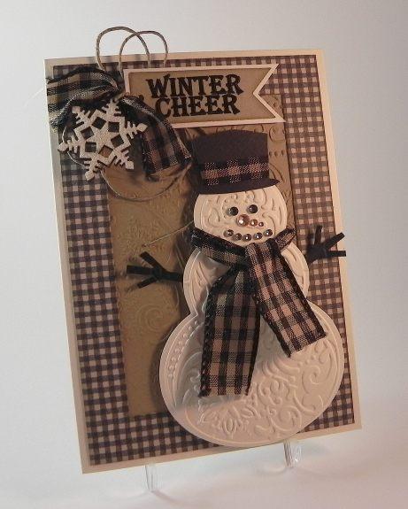 Embossed Snowman DSCN6057