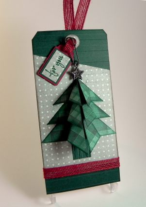 Tea Bag Christmas Tree Tag