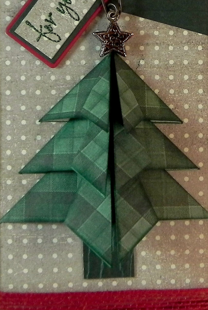 """How to Make a """"Tea Bag Fold"""" Christmas Tree 