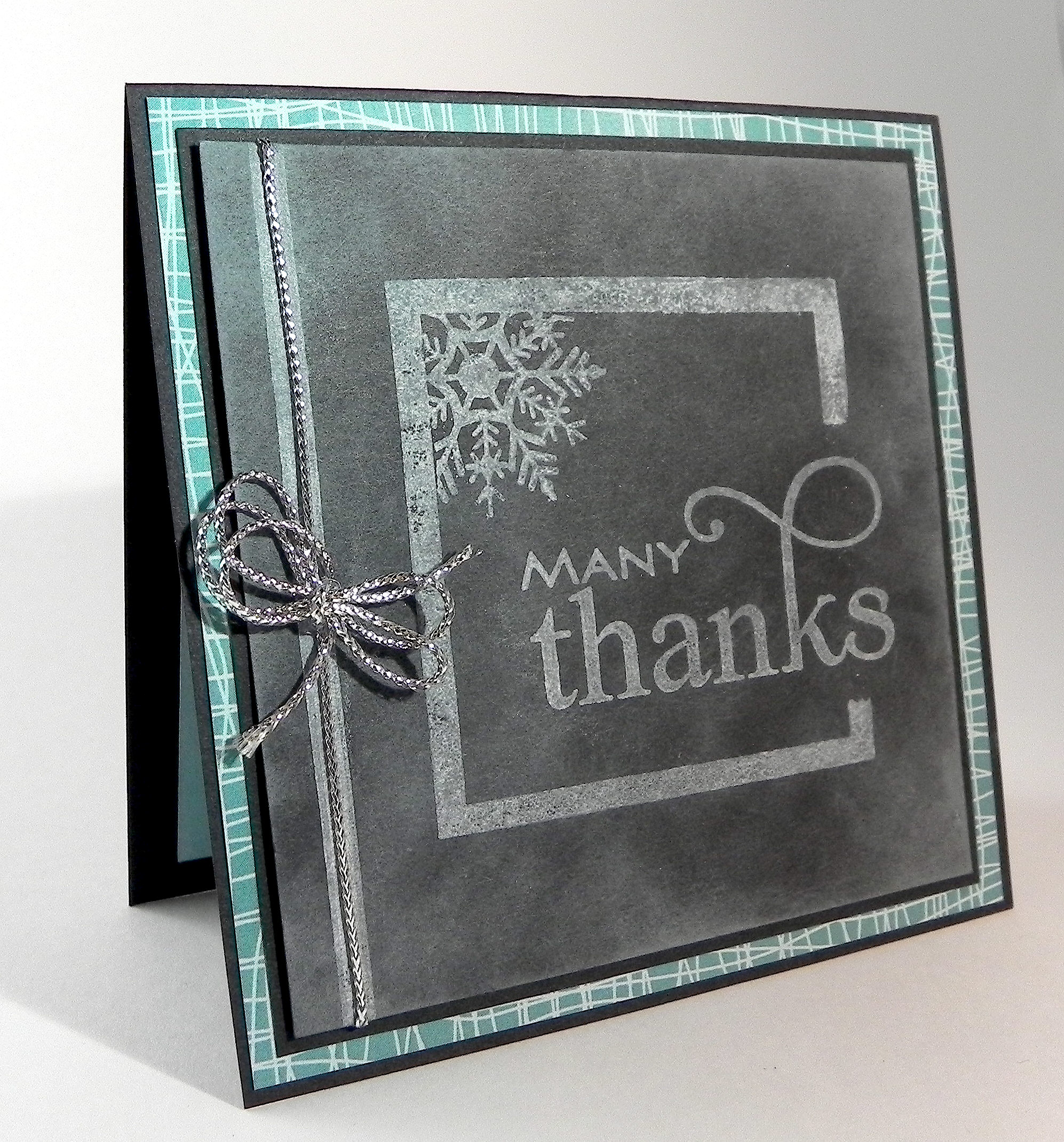 chalkboard thank you card i played with paper today