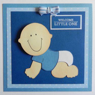 Baby Boy Wobble-Head Card