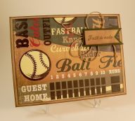 Baseball Note Card