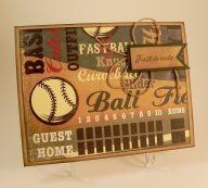 Baseball Note Card