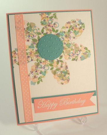 Confetti Cluster FLower Card DSCN9112
