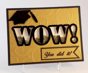 WOW Graduation Shaker Card (embossed version)zDSCN9829