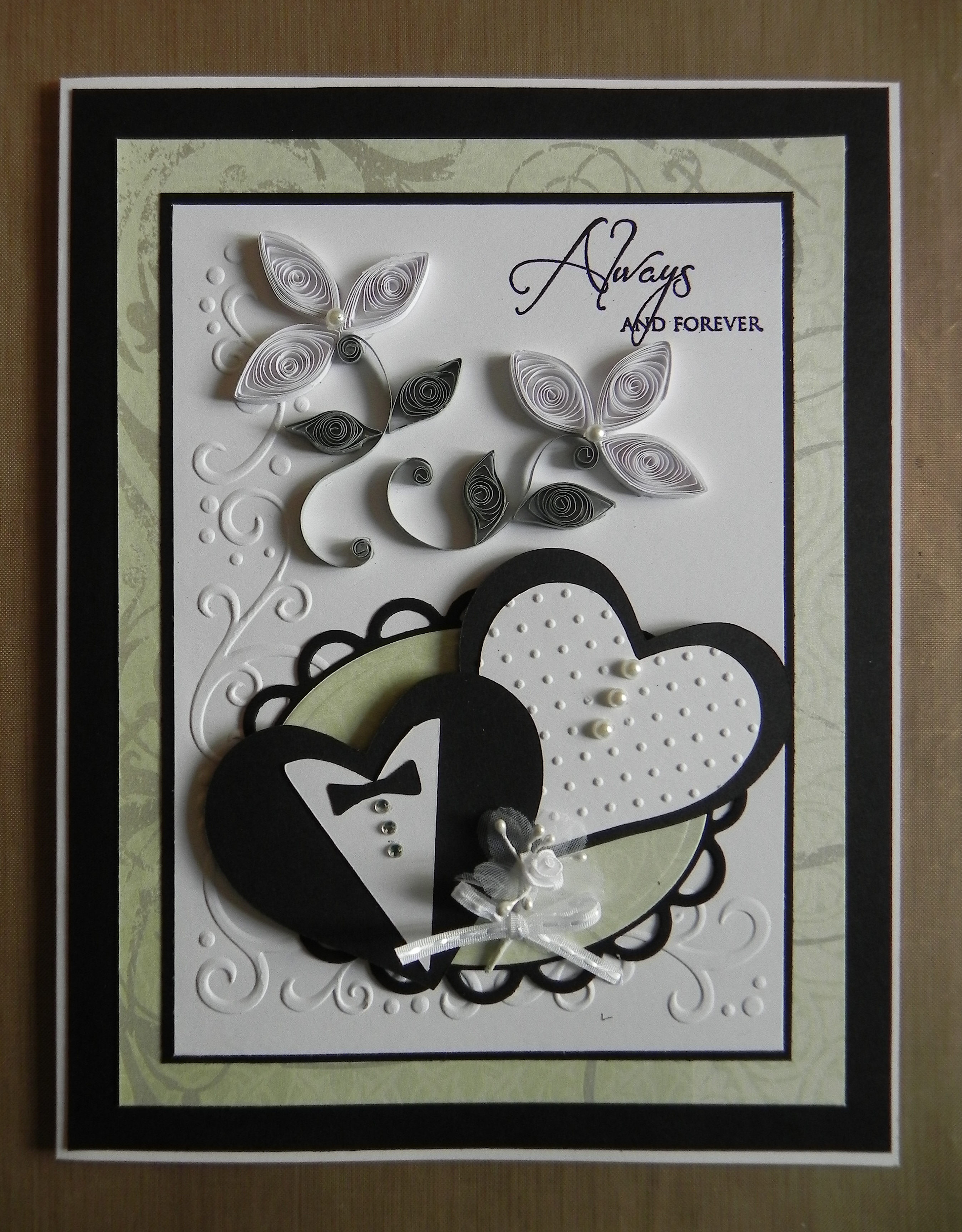 Always And Forever Quilled Wedding Card