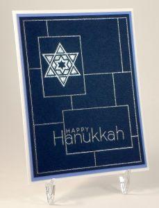 Silver Embossed Hanukkah Card zDSCN7086