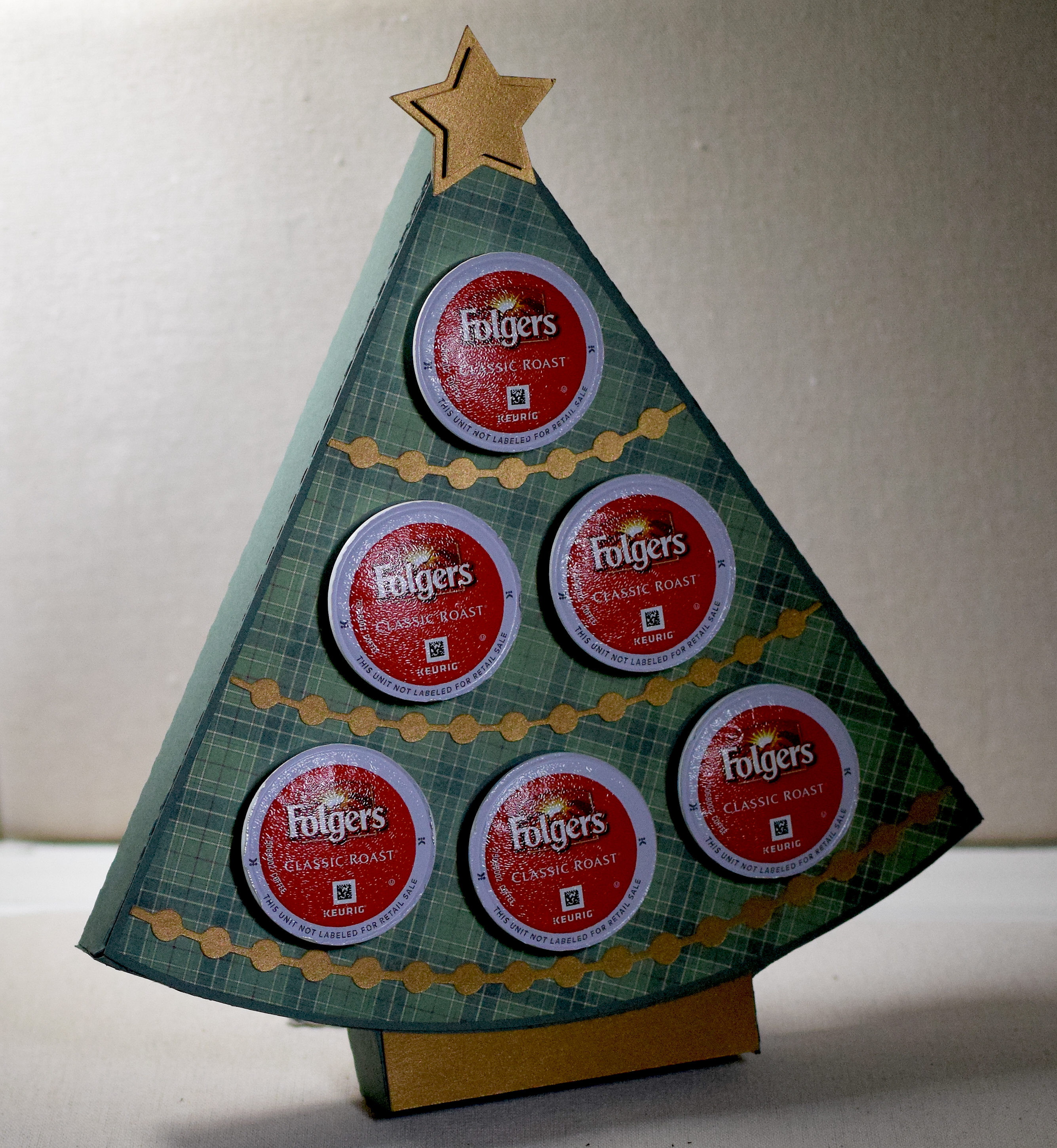 christmas tree k cup holder i played with paper today