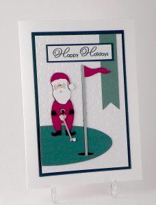 Die Cut Golfing Santa wwDSCN7388