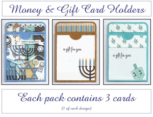 Hanukkah Gift Card Holders