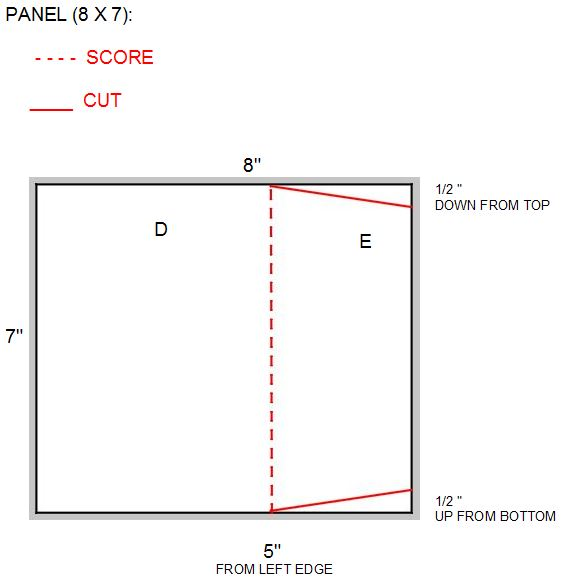 8 x 7 panel with diagonal cuts WITH LABELS