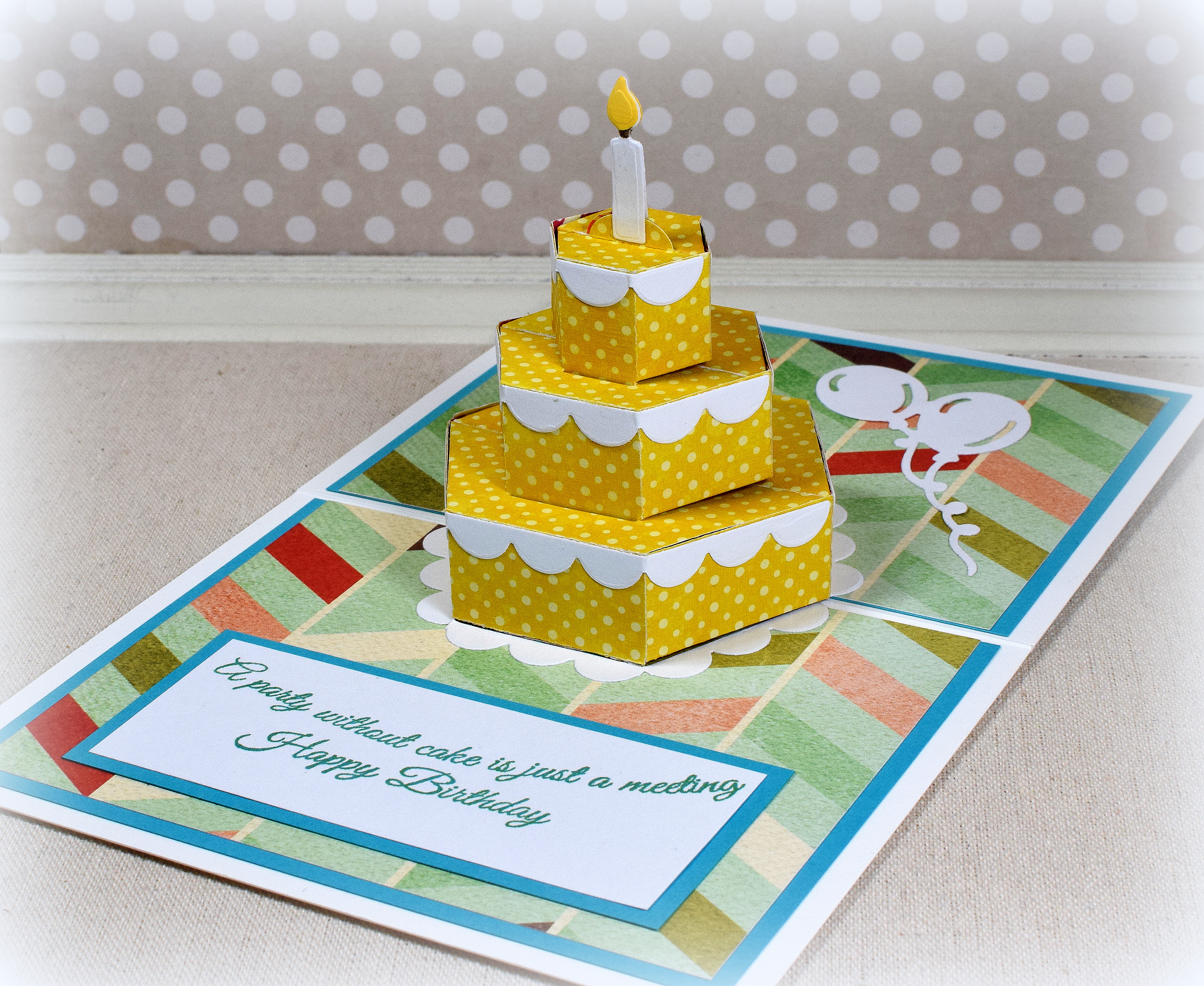 Magnificent Birthday Cake Pop Up Card I Played With Paper Today Birthday Cards Printable Benkemecafe Filternl