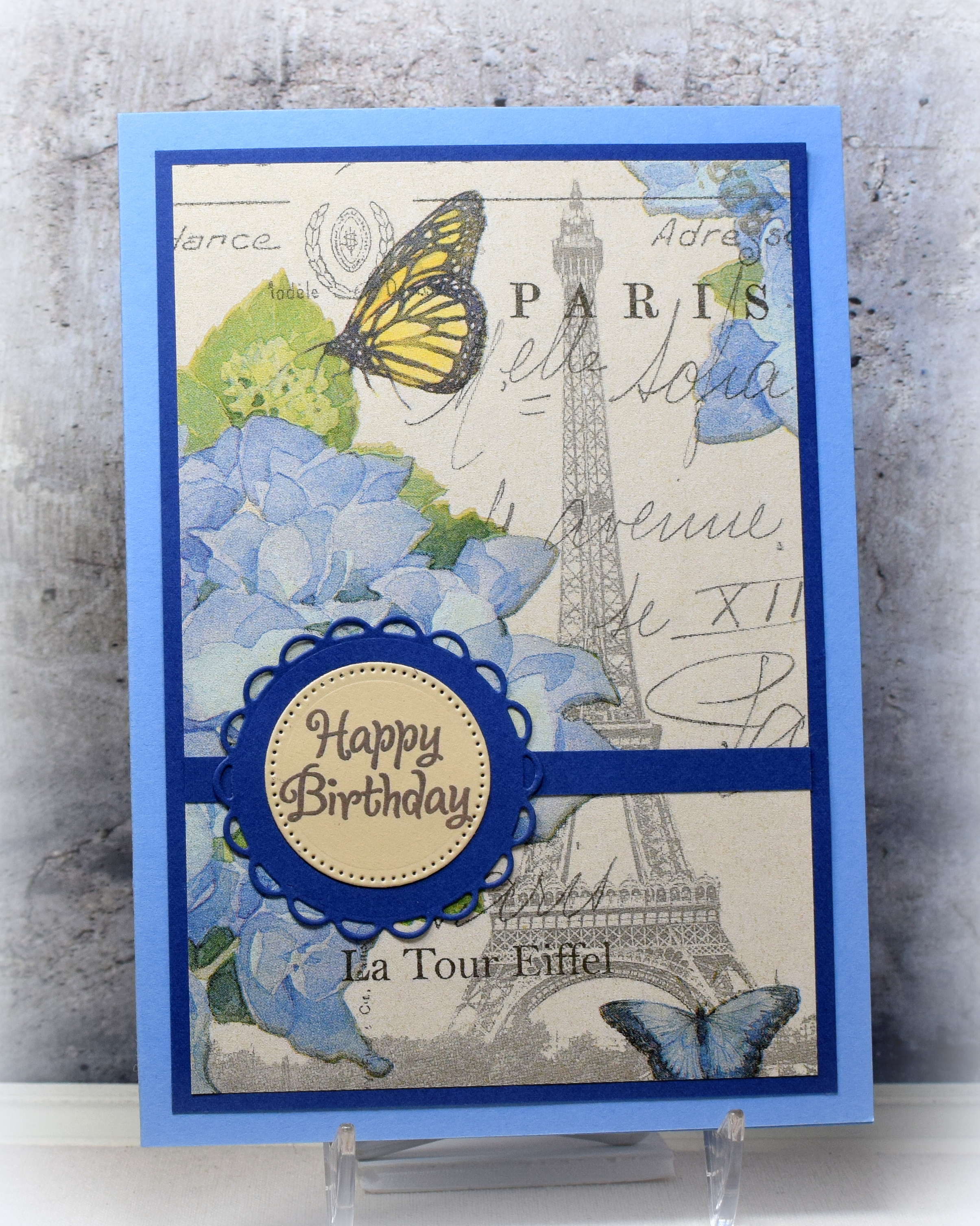 Paris Napkin Birthday Card  I Played With Paper Today!