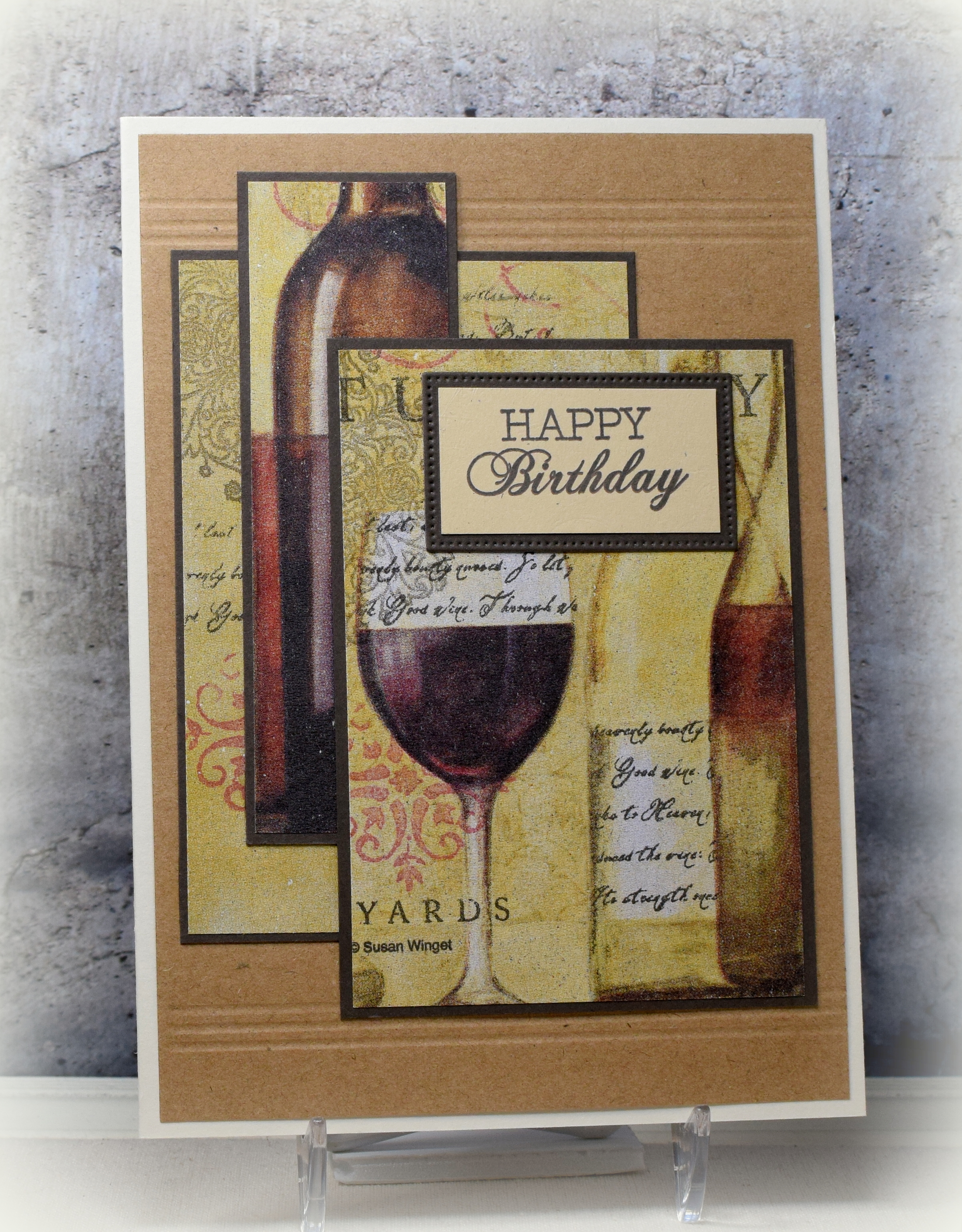 Wine Themed Napkin Cards I Played With Paper Today