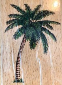 ALL NIGHT MEDIA PALM TREE STAMP