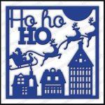 Ho Ho Ho Square die